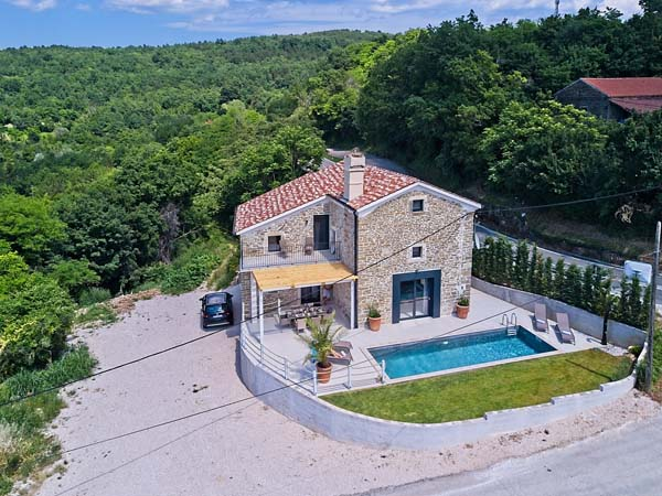 Villa Carica von oben