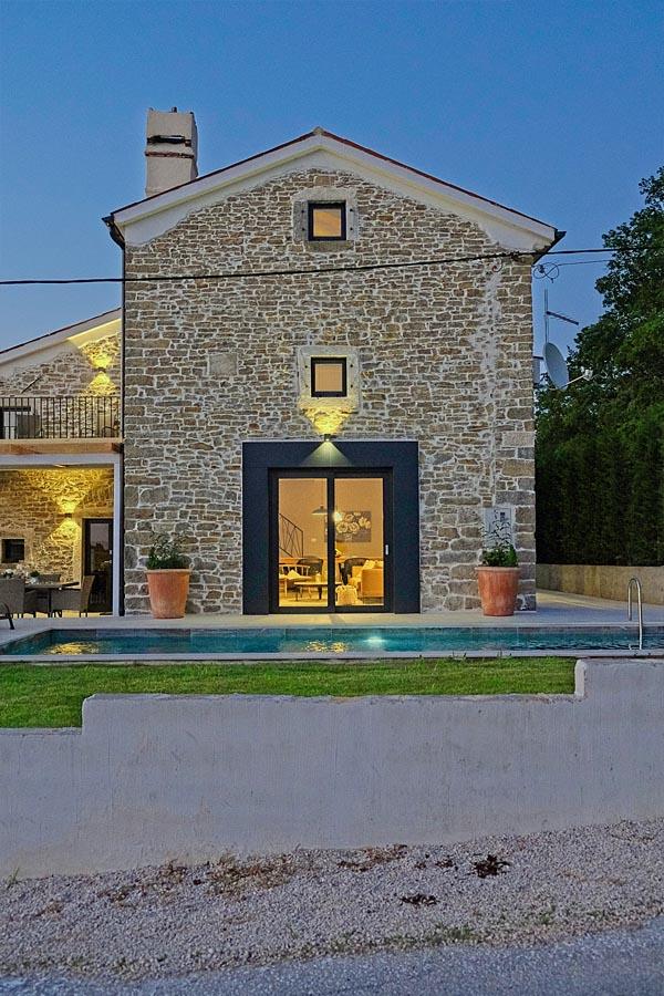 Abendstimmung charmante Luxus-Ferienvilla in Istrien / Kroatien